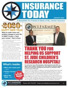 W.J. Farmer Newsletter January  2020 cover photo